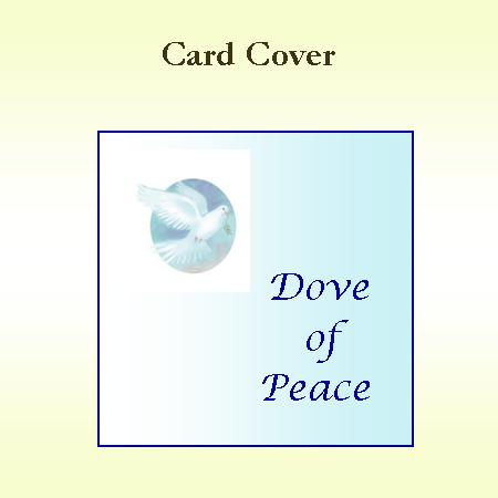 Dove of Peace Card Cover
