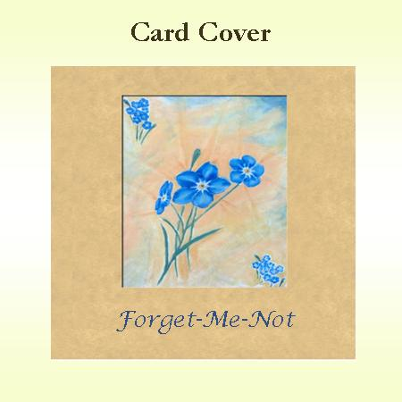 Forget Me Not Card Cover