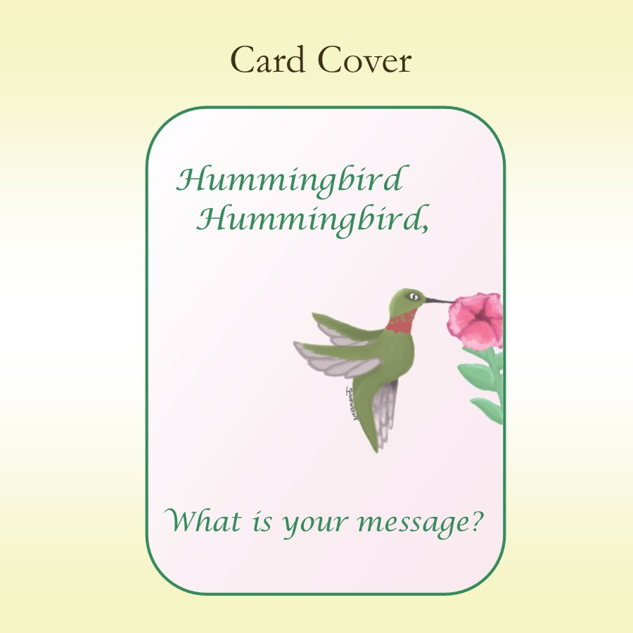 Hummingbird Inside Card