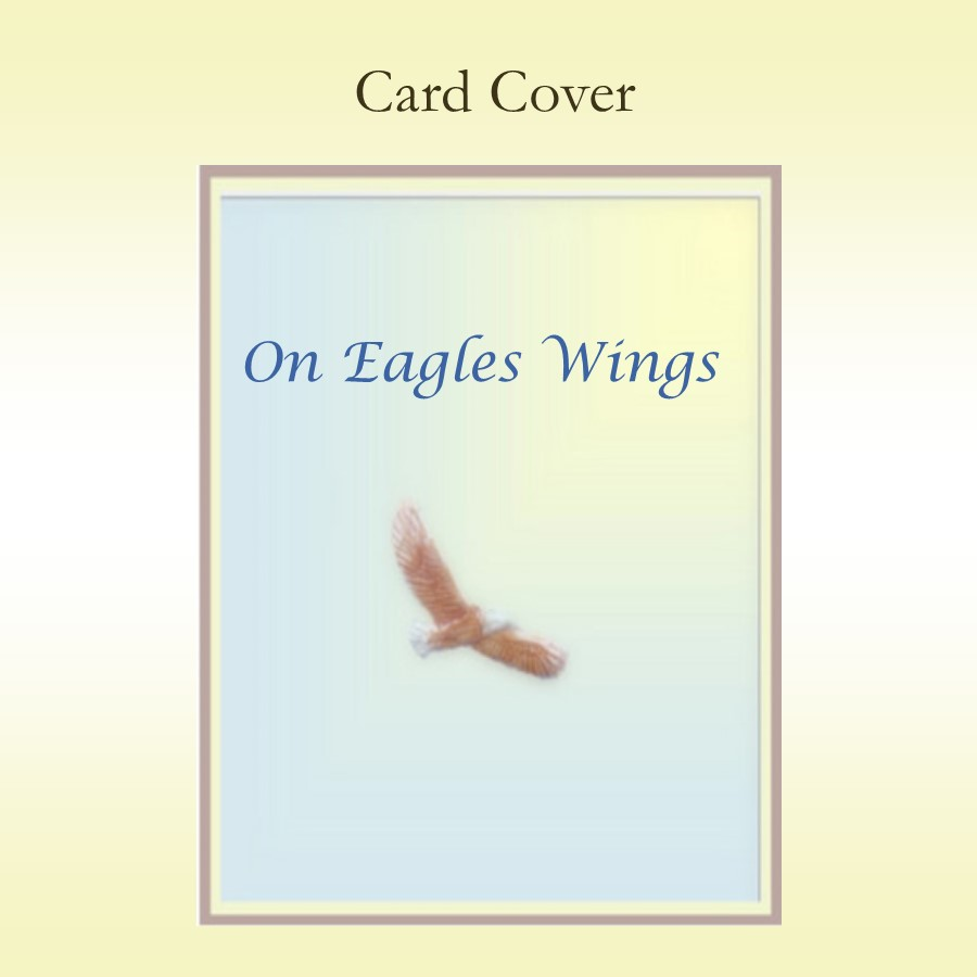 On Eagles Wings Keepsake