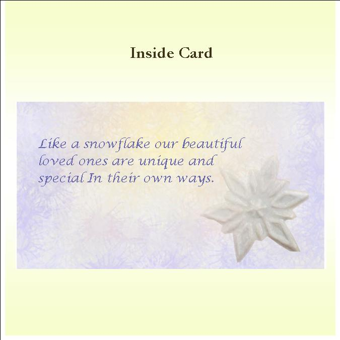 One of a Kind Inside Card