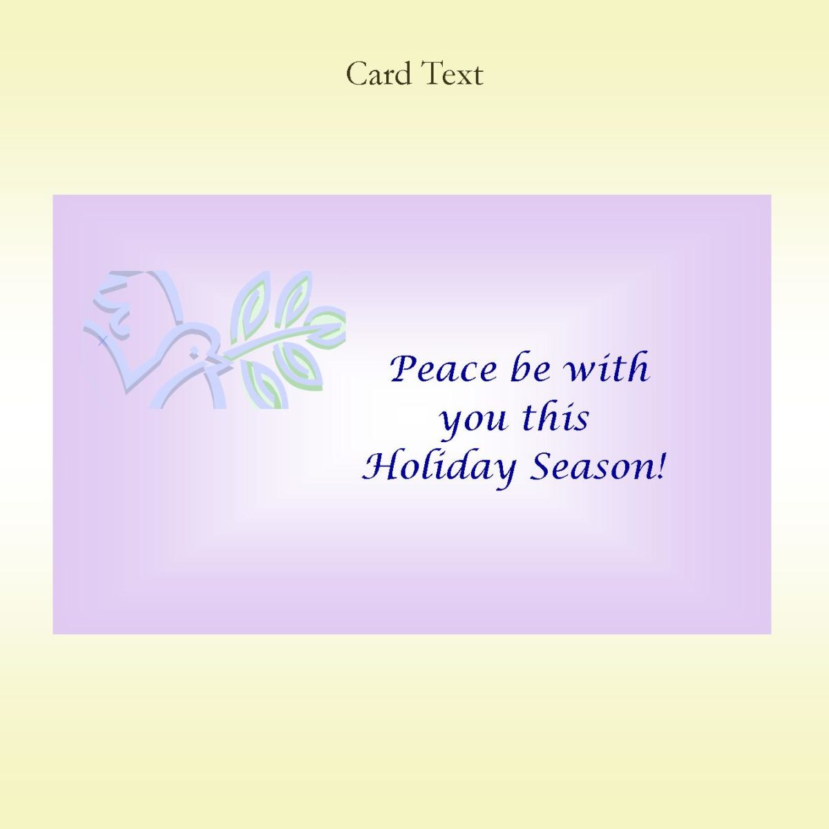 Season of Peace Keepsake
